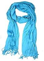 Elegant Light Weight Silk-cotton Scrunch Fringe Scarf, Many Colors
