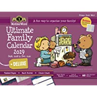 """MotherWord Ultimate Family Magnetic Hanging Calendar and Chore Chart, 16-Month, Sept 2018-Dec 2019, English, Large Deluxe Version, 18"""" x 13.5"""" (MWFC012819)"""