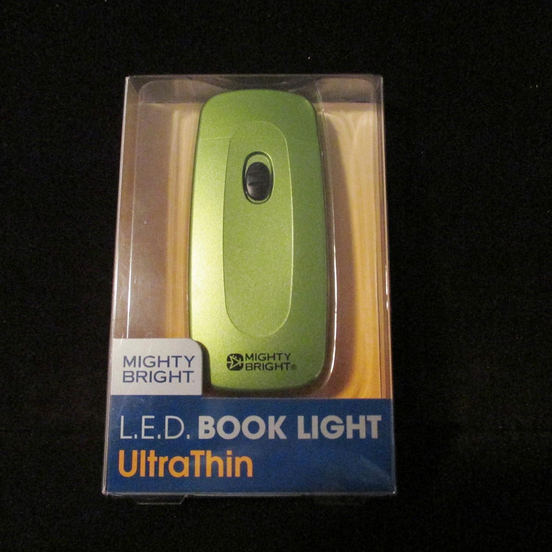 mighty bright l e d book light ultra thin green home