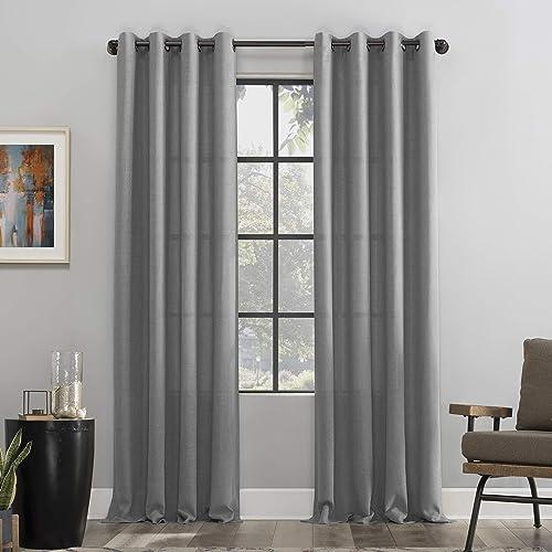 Editors' Choice: Scott Living Dari Heathered Texture Semi-Sheer Grommet Curtain Panel