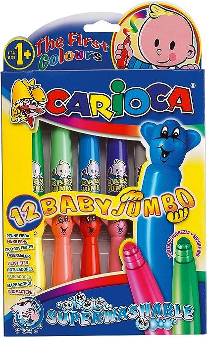 Carioca - Caja de 12 rotuladores Baby Jumbo (42059): Amazon.es: Juguetes y juegos