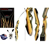 """Spyder Takedown Recurve Bow and Arrow Set – 62"""" Recurve Hunting Bow – Right & Left Hand – Draw Weights in 20-60 lbs – USA Based Company – Perfect for Beginner to Intermediate"""