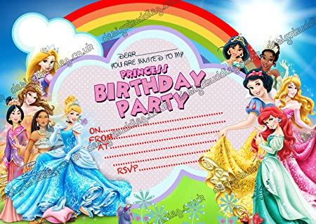 10 x Disney princesa Cenicienta fiesta de cumpleaños ...