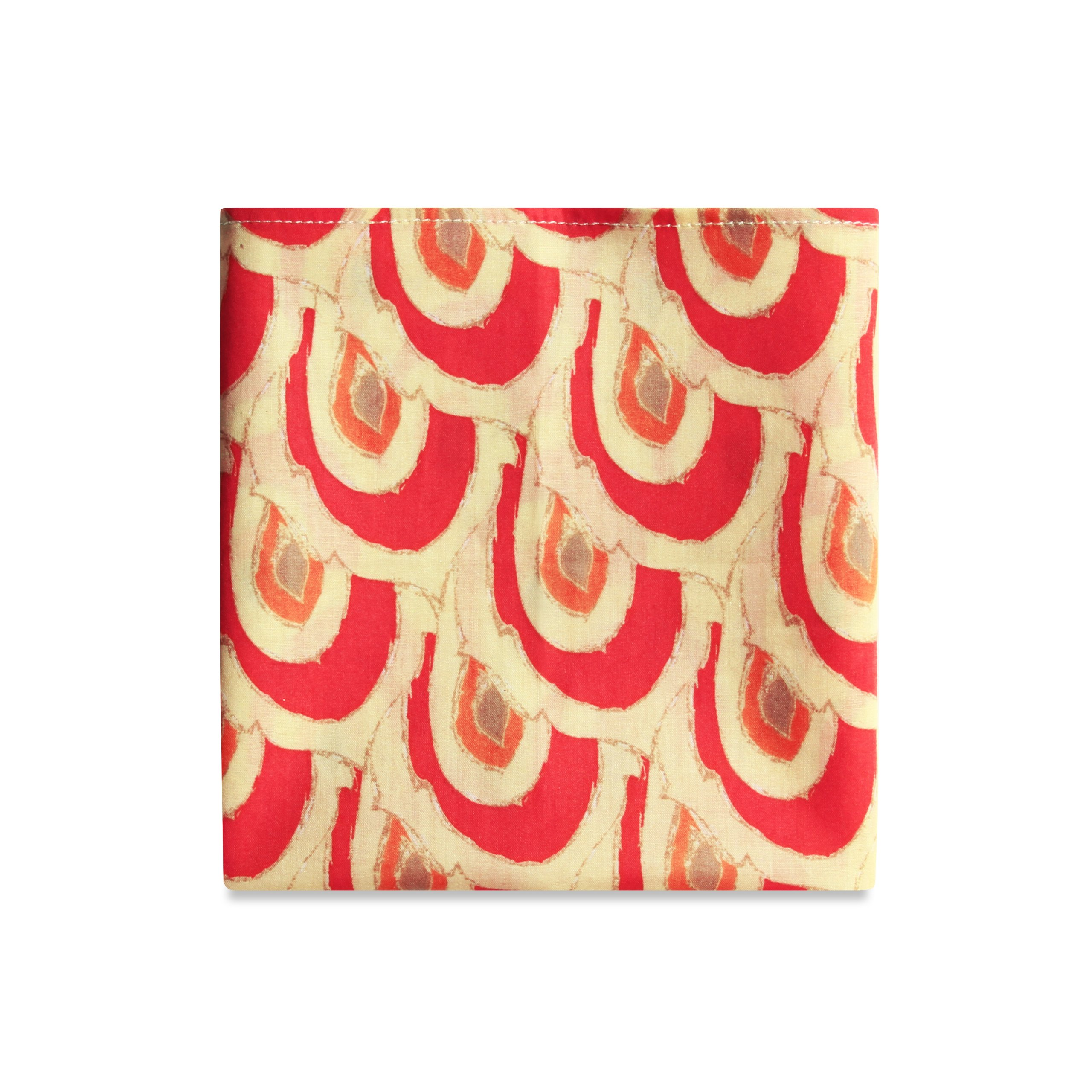 PSC Men's The Areta Pocket Square 11'' x 11'' Red/Yellow Print