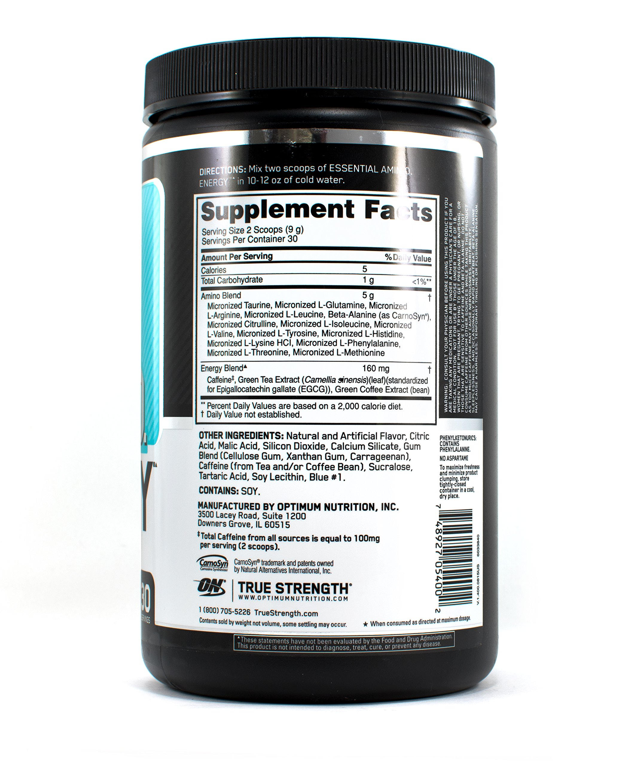 Optimum Nutrition Amino Energy, Blueberry Mojito 30 Servings  (Pack of 2)