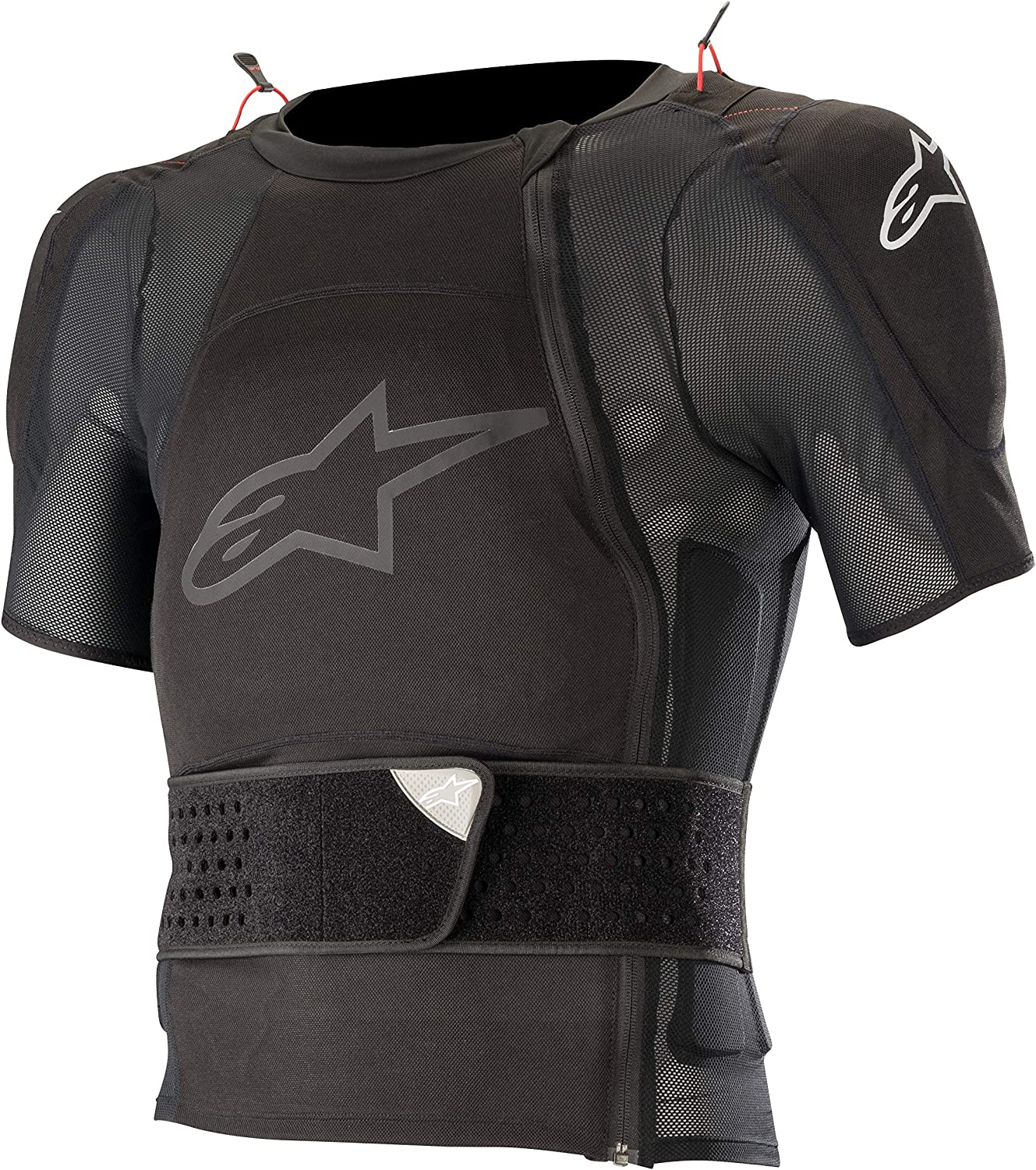 Alpine Stars Sequence Protection Jacket Short Sleeve Torso Protection Medium//Large Black