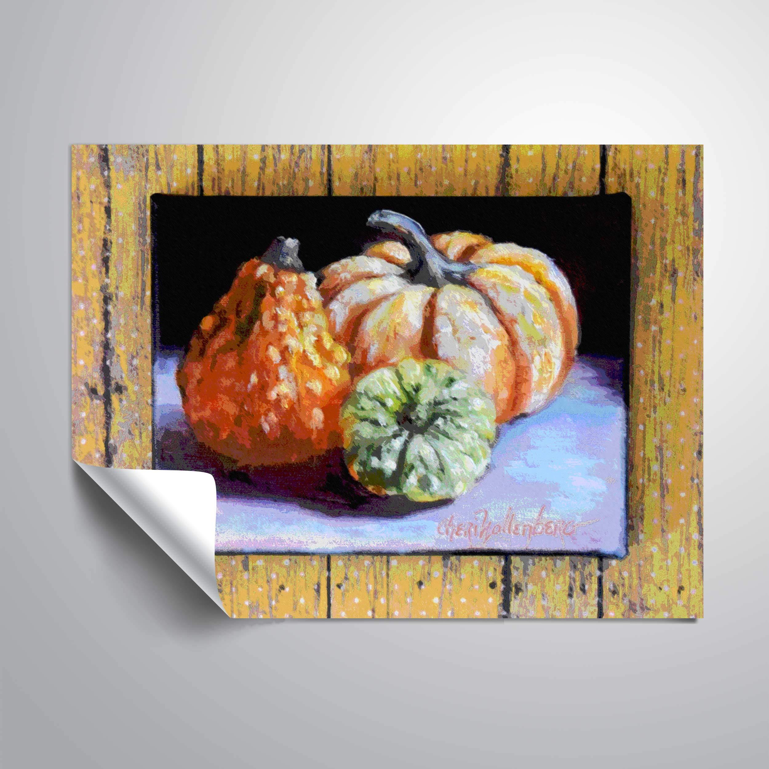 18 x 18 ArtWall Elana Rays Cyan Swirl Art Appeelz Removable Graphic Wall Art