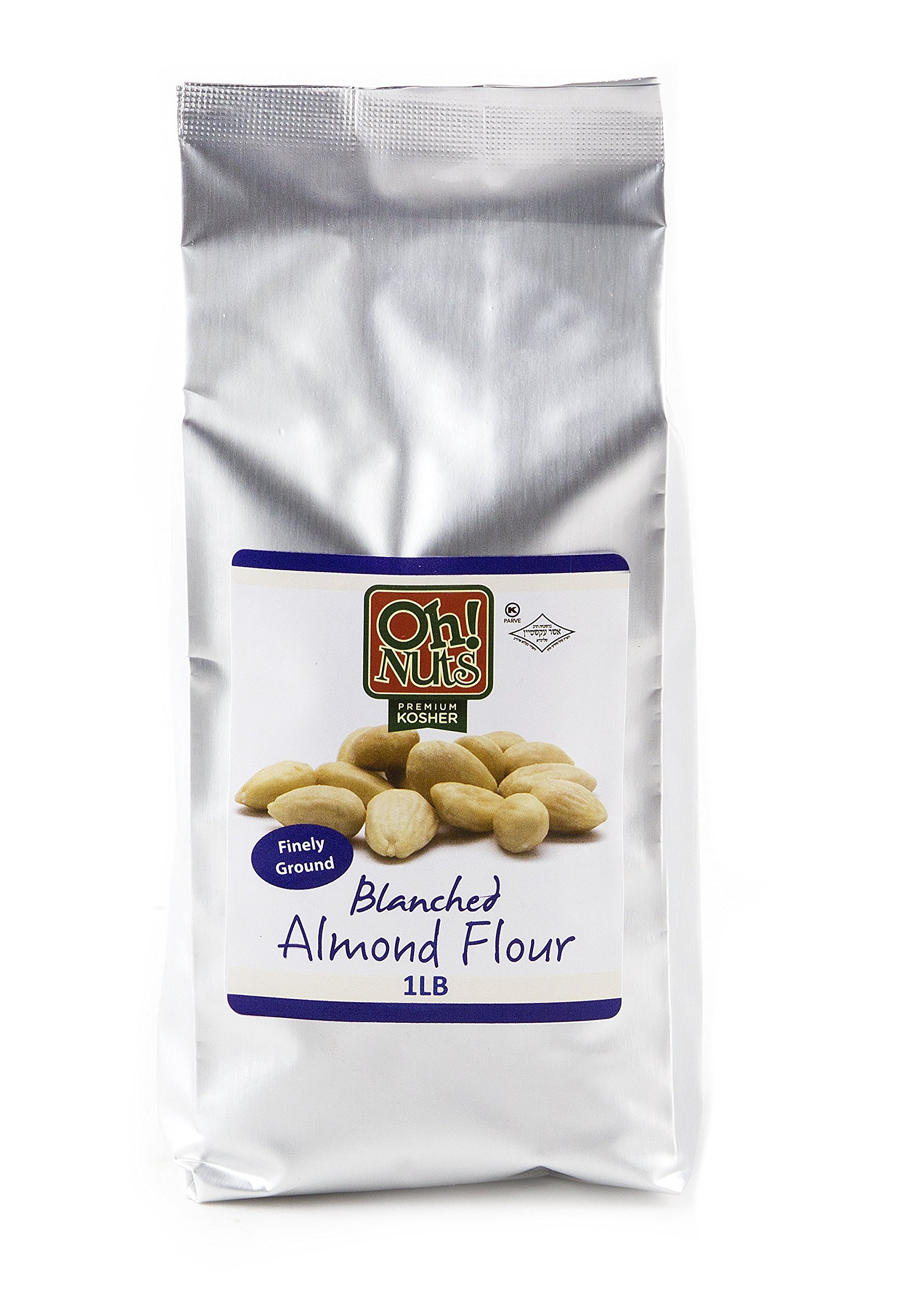 1LB Almond Flour Blanched All Natural, Extra Fine Ground Almond Meal - Oh! Nuts (1 LB Bag Blanched Almond Flour)