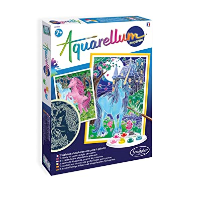 Sento Sphere SEN6412 Aquarellum Glow in Dark Unicorns Magic Canvas: Toys & Games