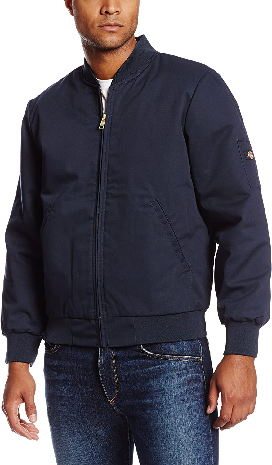 B000MW8QAW Dickies Occupational Workwear JTC2DN Polyester/ Cotton Insulated Team Jacket with Slash Front Pockets, Dark Navy 91wFm17h-PL