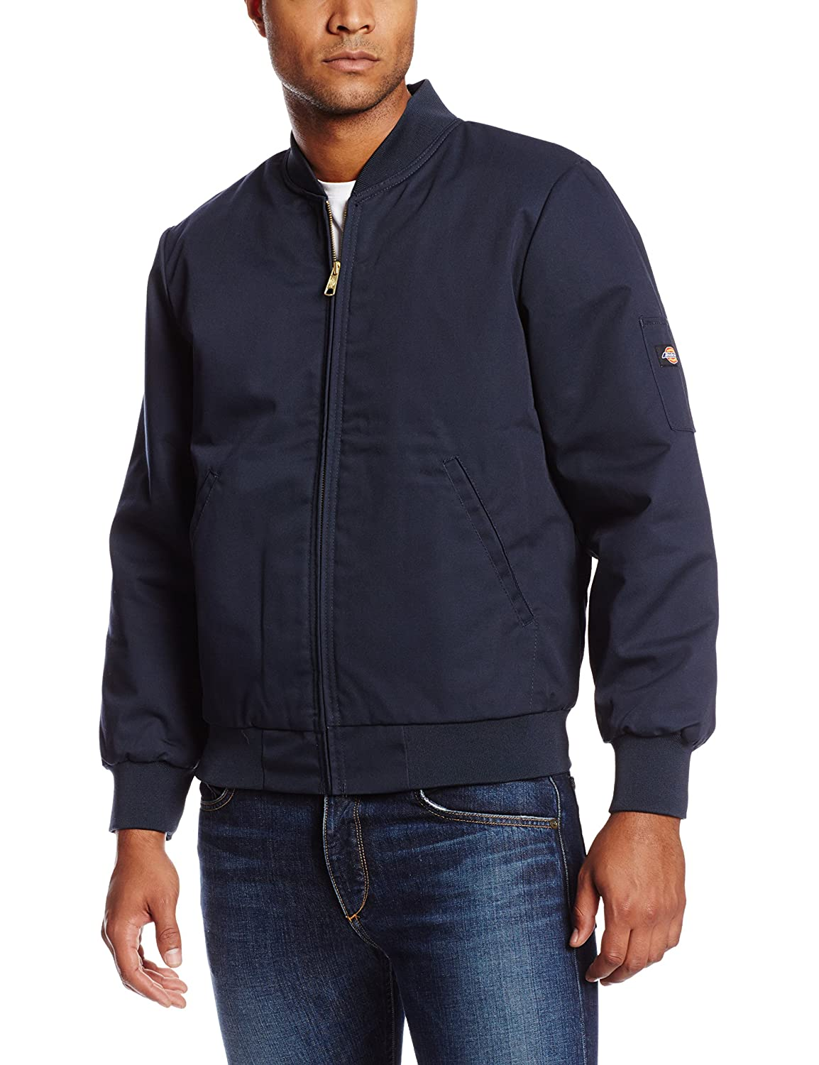 Dickies Occupational Workwear JTC2DN 3XL Polyester/Cotton Insulated Team Jacket with Slash Front Pockets, 3X-Large, Dark Navy