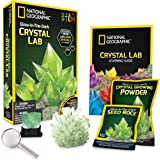 NATIONAL GEOGRAPHIC Glow-in-the-Dark Crystal Growing Lab - DIY Crystal Creation - Includes Real Fluorite Crystal…