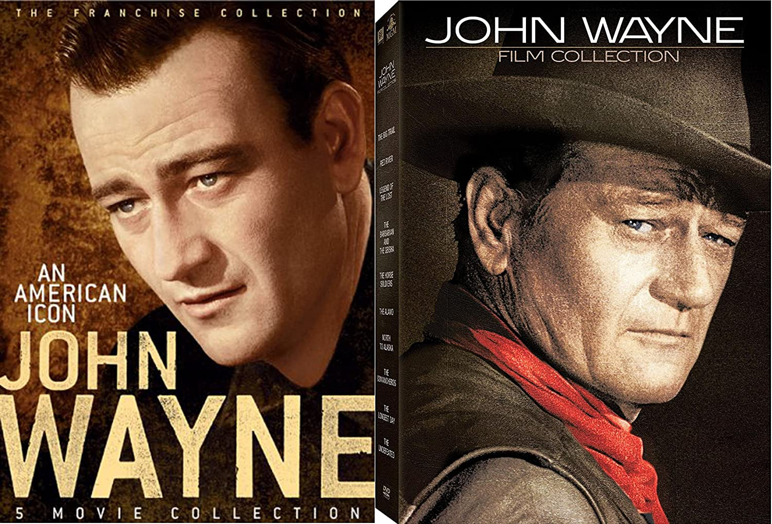 The John Wayne 15-Movie Franchise Film Collection - 12-DVD Bundle with The Conquerer, Jet Pilot, Red River, The Big Trail, Comancheros & More!