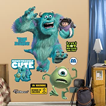 Amazon.com: FATHEAD Monsters Inc. Graphic Wall Décor: Home & Kitchen