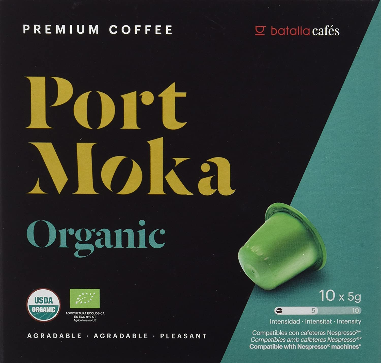 Port Moka Cápsulas de Café 100% Orgánico Arábica Compatibles con Cafetera Nespresso - 4 Paquete de 10 Unidades: Amazon.es: Alimentación y bebidas