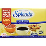 Splenda 1200 Individual Packets No Calorie Sweetener, Granular