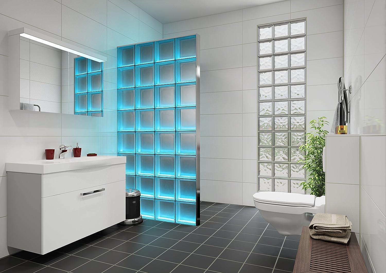Light My Wall Duschabtrennung aus Glasbausteinen mit integrierter ...