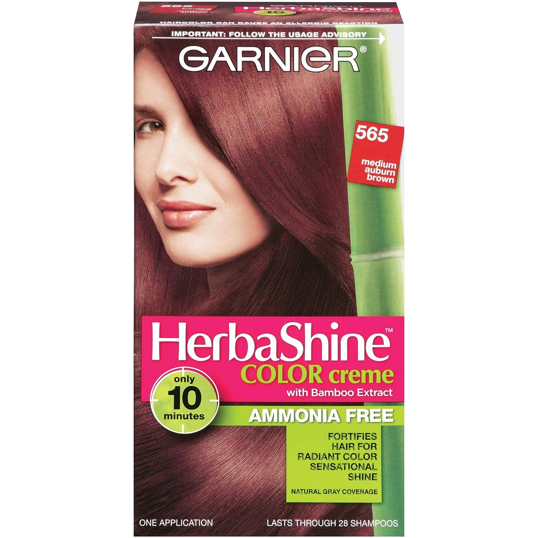 Amazon Garnier Herbashine Haircolor 565 Medium Auburn Brown