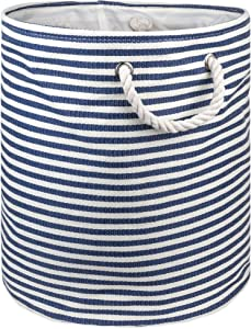 """DII, Woven Paper Storage Bin, Collapsible, 20x15"""", Nautical Blue"""