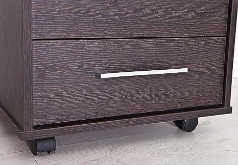 Cassettiera Ufficio In Metallo : Intradisa cassettiera da ufficio wengè amazon casa e
