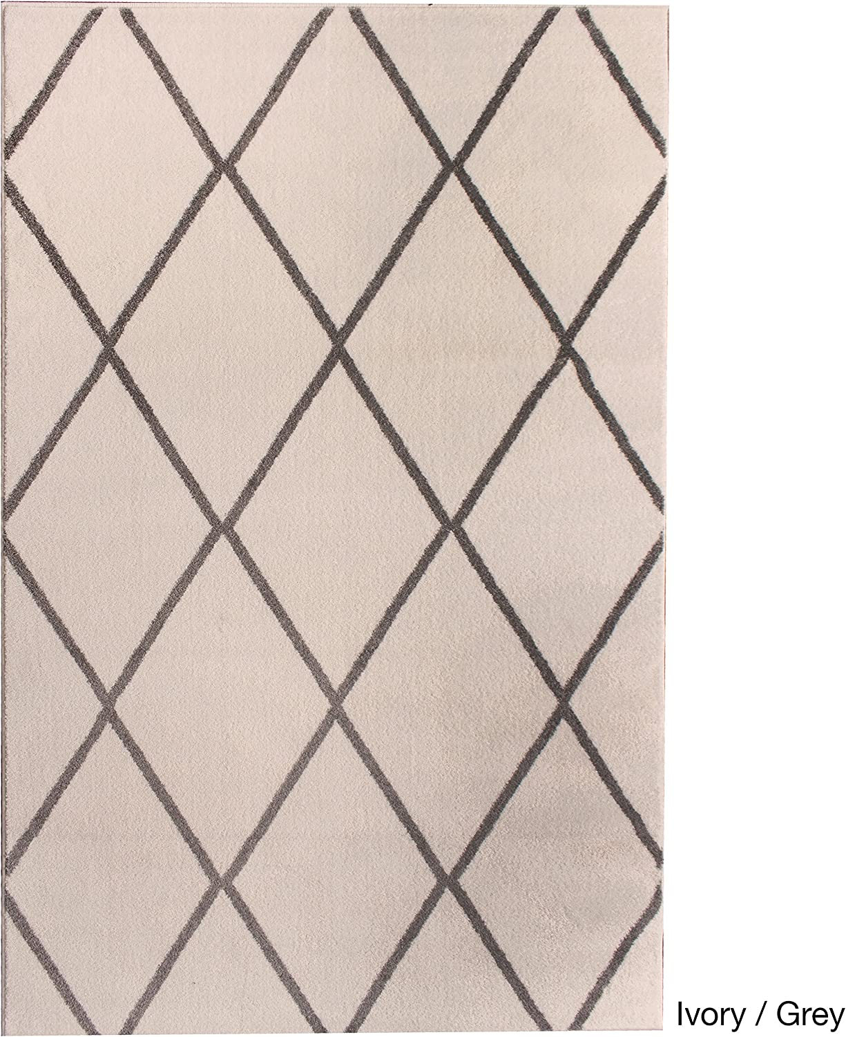 Super Area Rugs Metro Modern Diamonds Rug Grey White 7 10 X 9 10 Furniture Decor