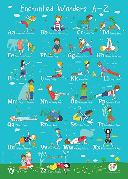 1art1 - Póster de ABC-Yoga para niños de Enchanted Wonders ...