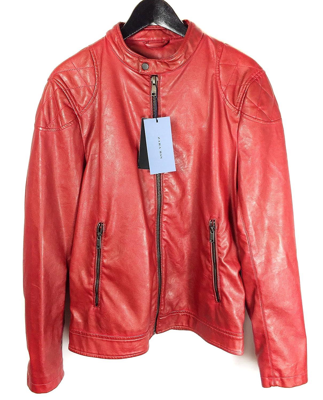 Zara - Chaqueta - para hombre rojo rosso Medium: Amazon.es ...