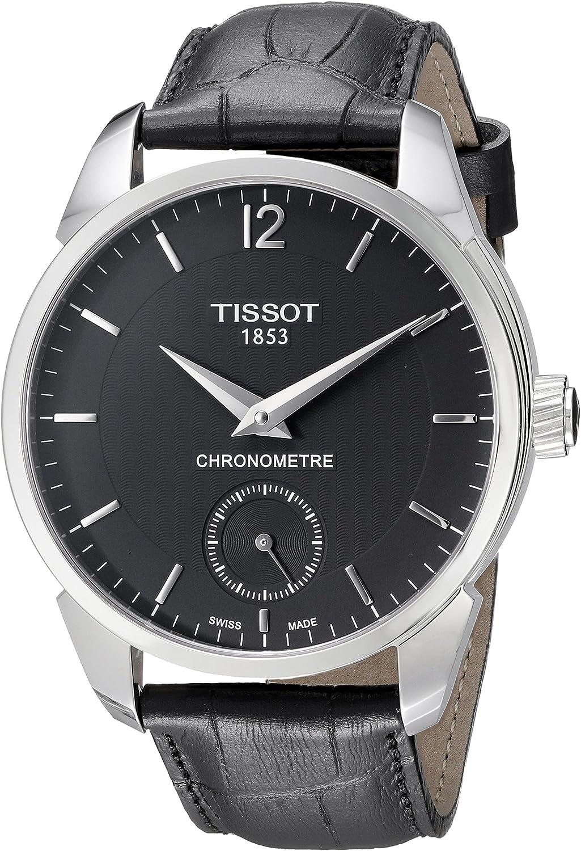 Tissot Men s T0704061605700 T-complication Analog Display Mechanical Hand Wind Black Watch