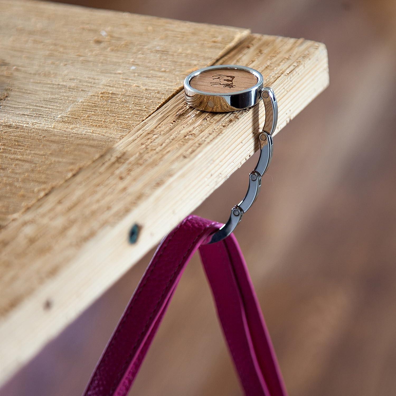 Amazon.com: Percha de madera de vaca, gancho para monedero ...