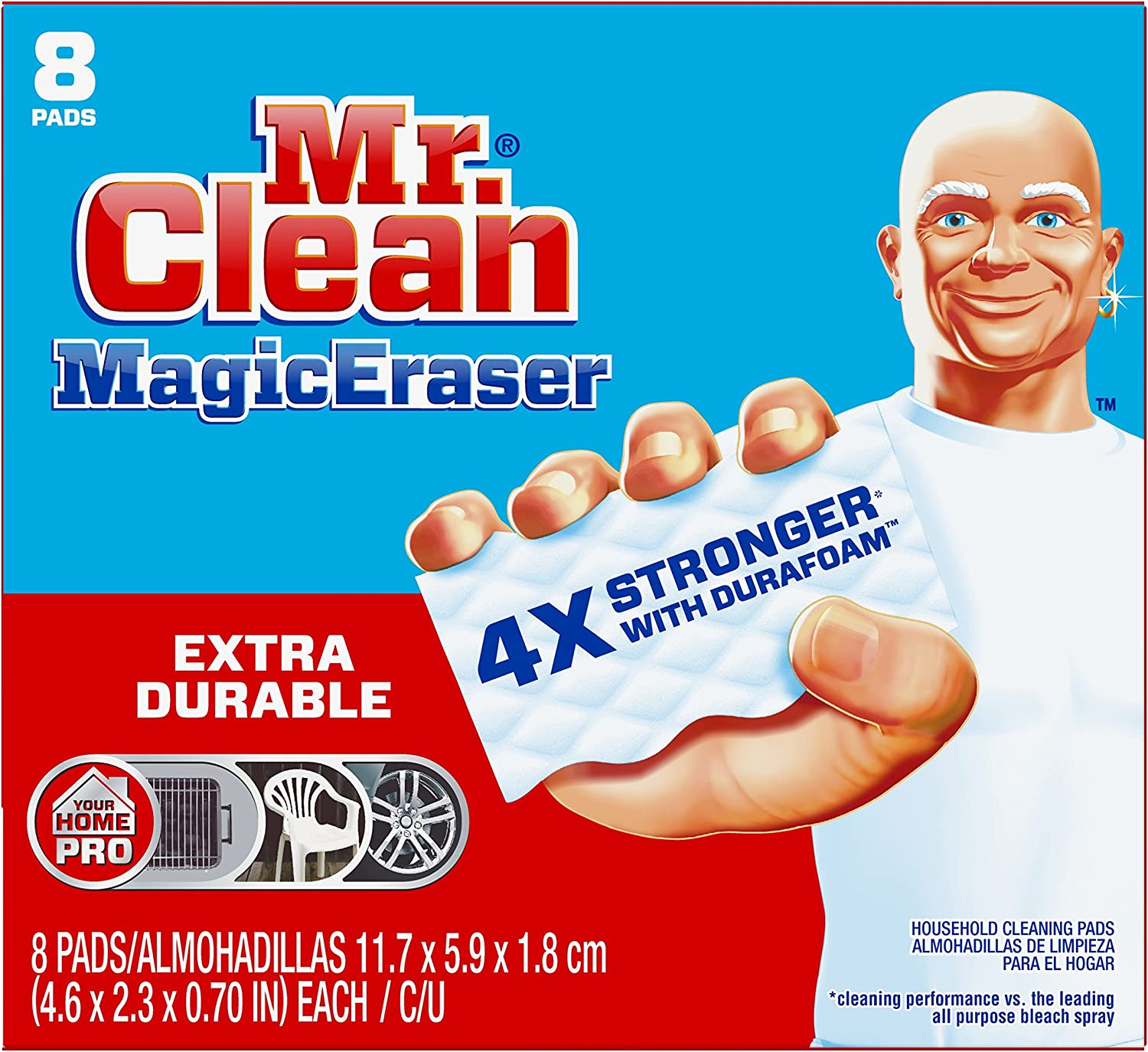 Amazon Com Mr Clean Magic Eraser Pads 8 Count Pack Of 1 Health Personal Care