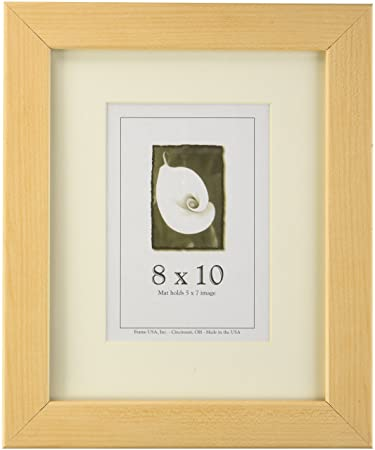 Amazoncom 8x10 Wood Picture Frame American Maple Made In The