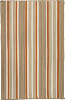 product image for Colonial Mills Mesa Stripe Braided Rug, 3' X 5' , Rusted Sand
