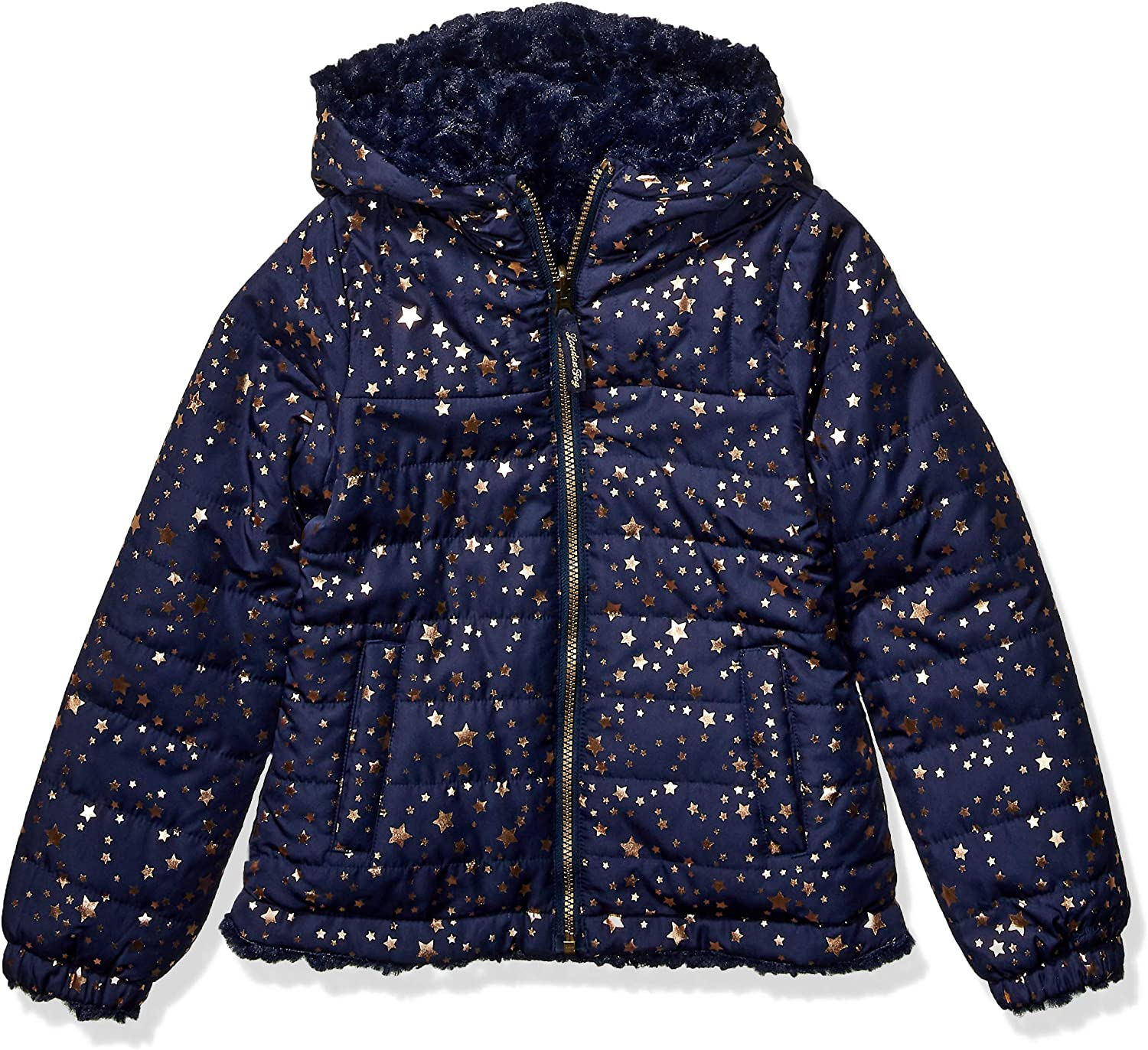 LONDON FOG Girls' Toddler Midweight Fleece Lined Jacket