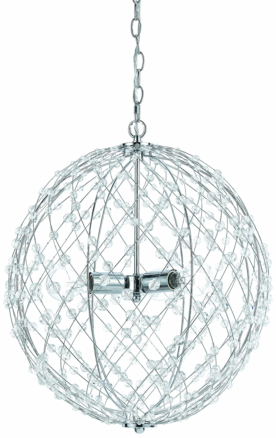 AF Lighting 8284-1H Small Round Silver Web Pendant