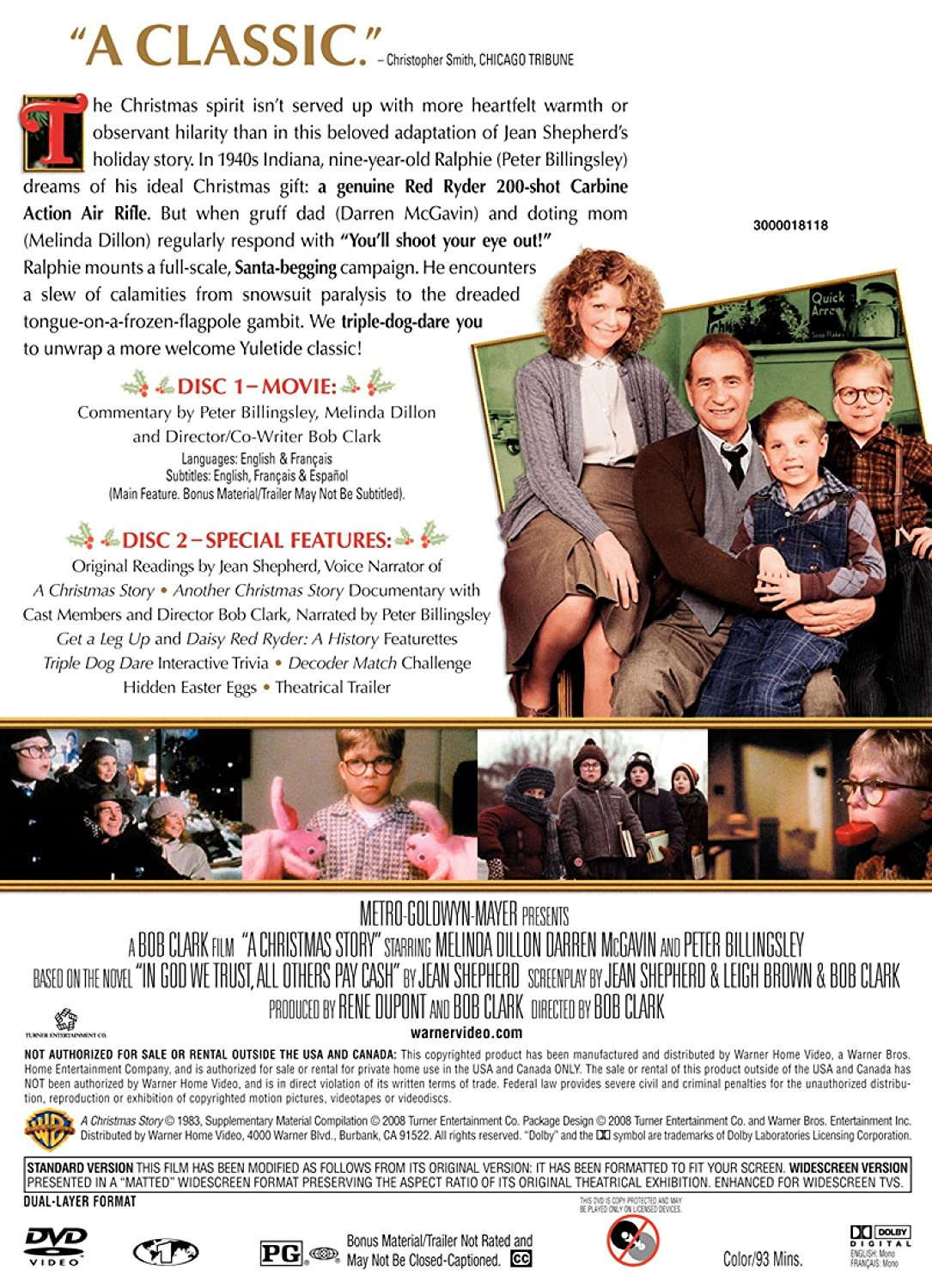 Amazon.com: A Christmas Story (Two-Disc Special Edition): Rene ...