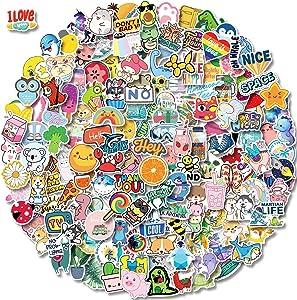 200 PCS Water Bottle Stickers for Kids Teens Girls, Cute Vinyl Waterproof Vsco Stickers, Hydroflask Skateboard Laptop Phone Stickers