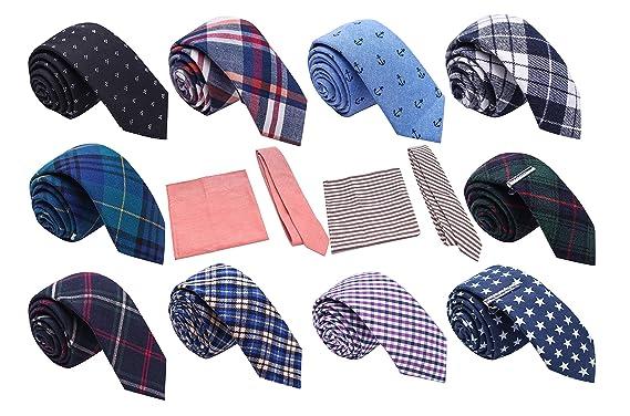 "d66ec7dc2865 Skinny Tie Madness Men's Fashion Bundle of 12, 2"" Skinny Ties Plus 2  Tie"