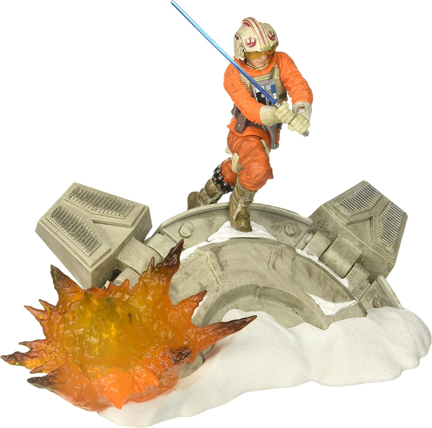 Star Wars Black Series Luke Skywalker Statue Centerpiece - Action Packed Display of a Classic Scene - Light Up Feature - 3 AAA Batteries Not Included - Add More Characters to Build the Scene