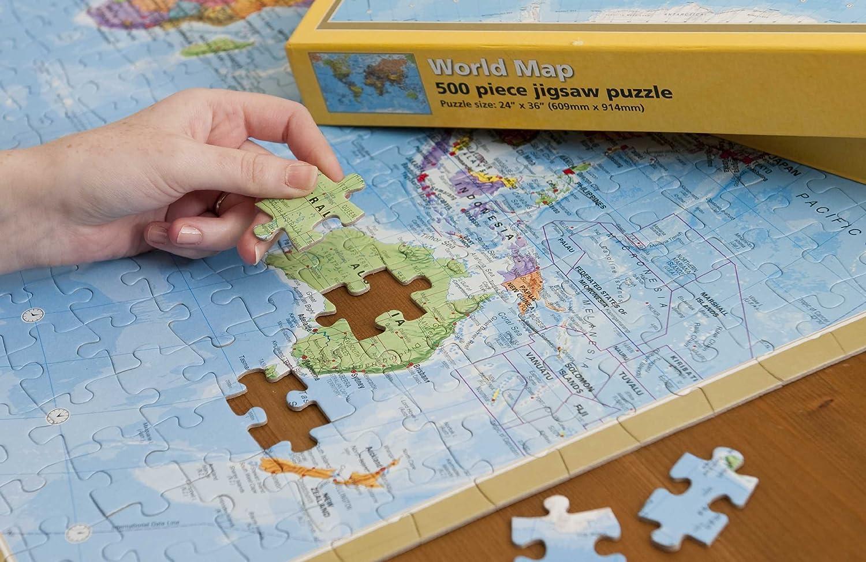 Amazon maps international world 500 piece puzzle maps amazon maps international world 500 piece puzzle maps international toys games gumiabroncs Images