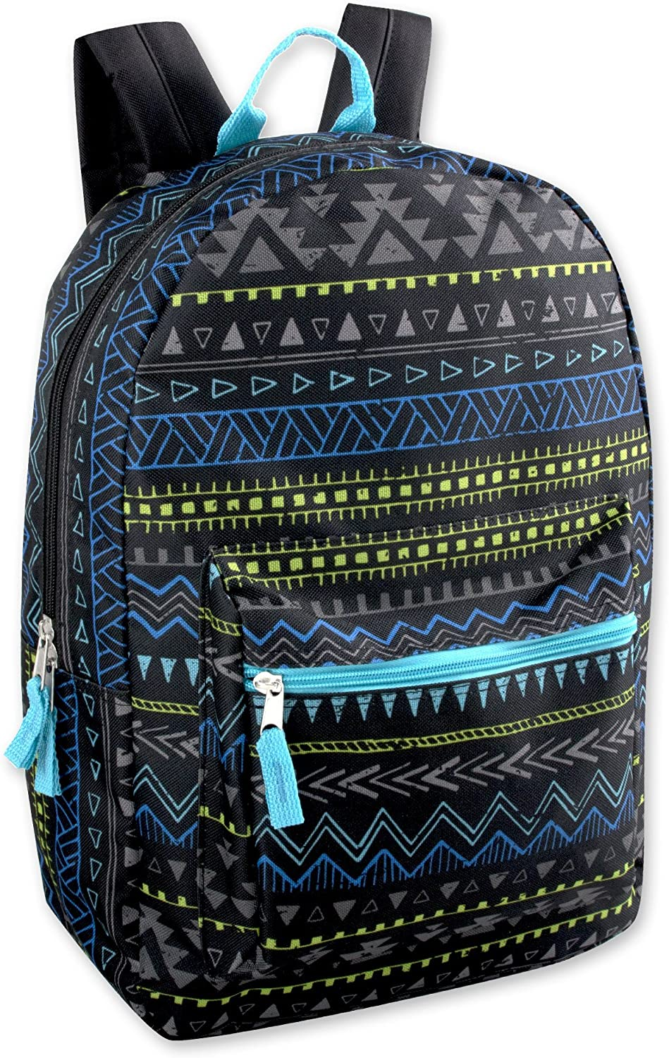 Trailmaker Boys Printed 17 Inch Backpack with Pencil Pouch for School, Travel, Hiking, Camping