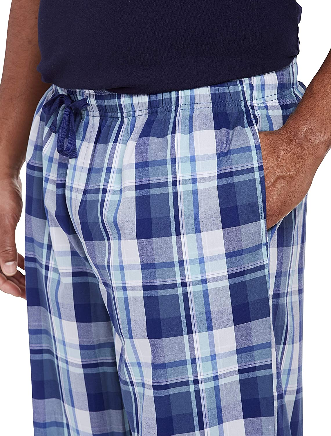 Blue Harbor Bay by DXL Big and Tall Plaid Lounge Pants