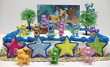 Care Bears 20 Piece Birthday Cake Topper Set Featuring Tenderheart Bear, Wonderheart Bear,...