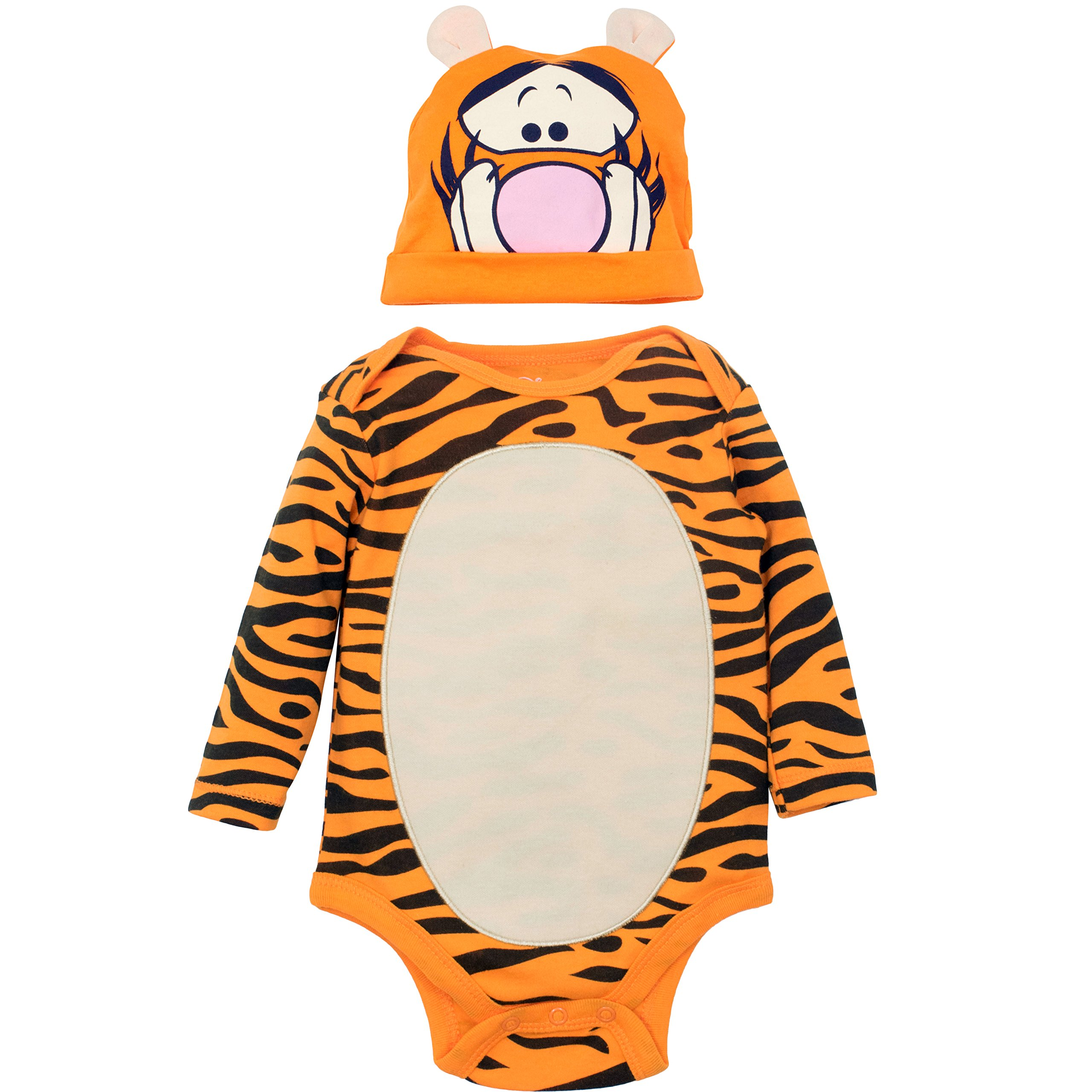 Disney Tigger Baby Boys' Costume Bodysuit and Hat Set, Orange (6-9 Months)