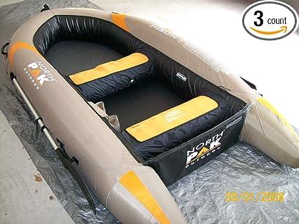 Amazon Com Aquarius 896 9 5 Inflatable Hard Bottom Boat W Oars
