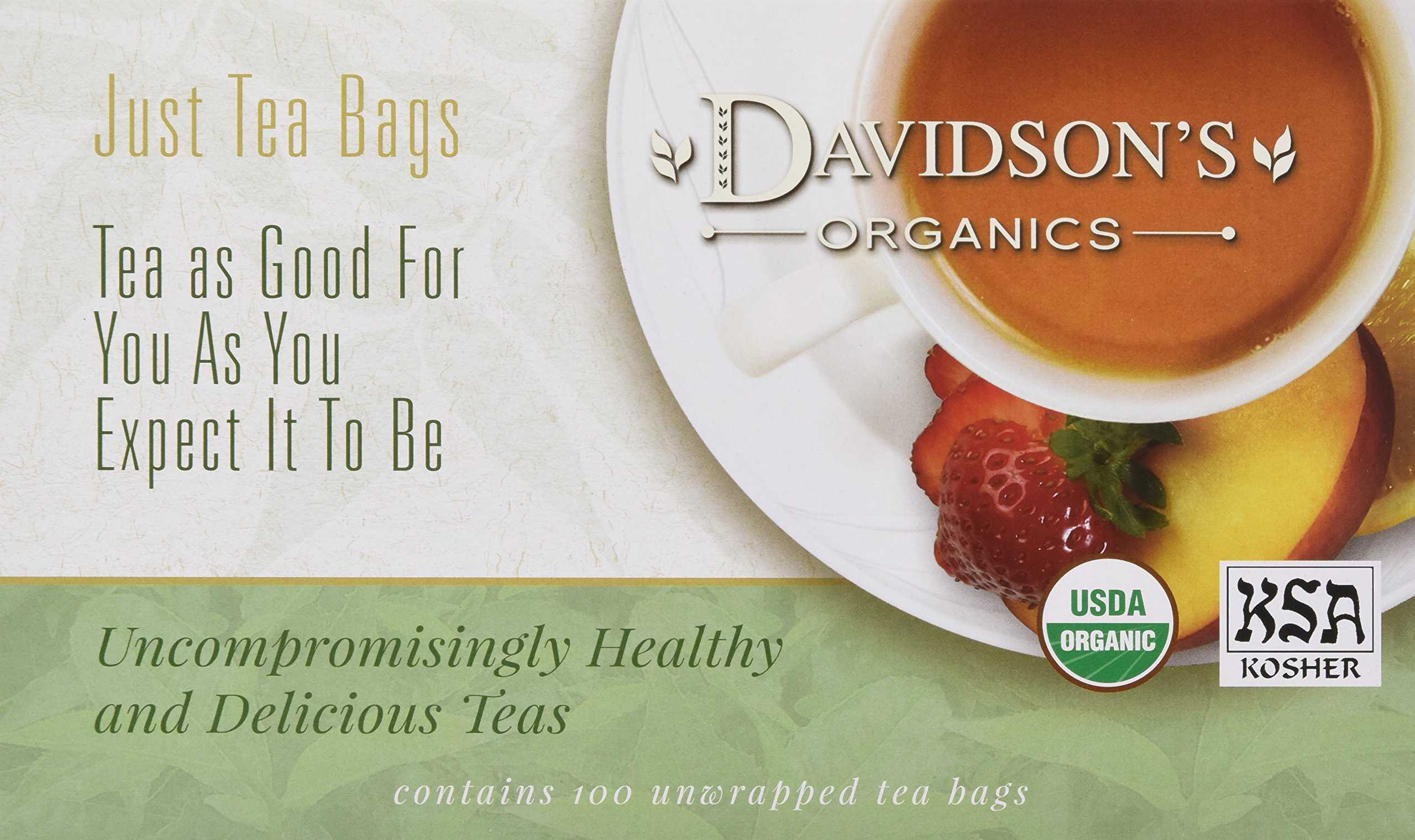 Davidson's Tea Hibiscus Flower, 100-Count Tea Bags by Davidson's