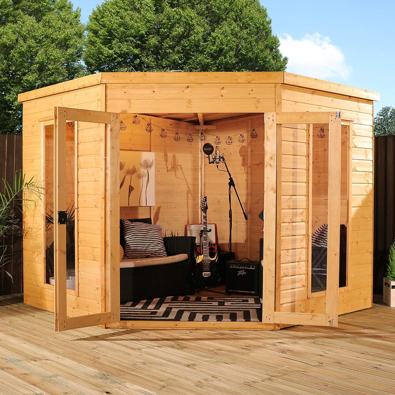 8 x 8 para esquina de madera Verano y#x2666; Lavanda Summer casa ...