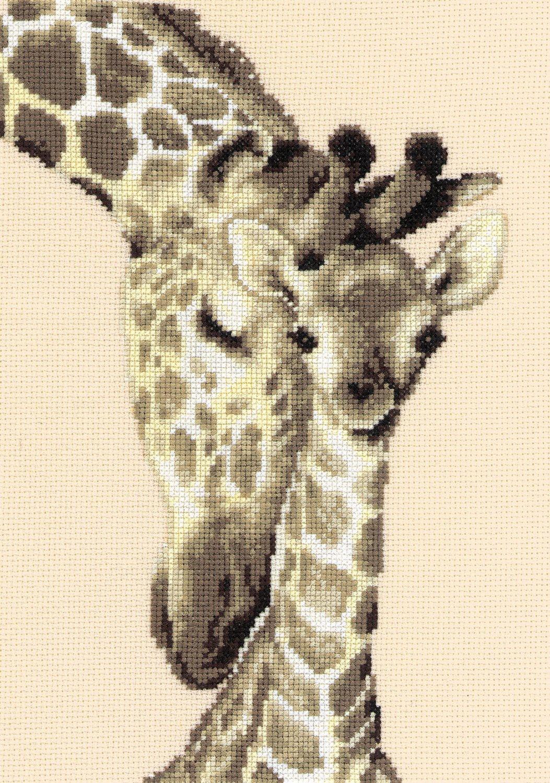 Vervaco Giraffe Family Counted Cross Stitch Kit, Multi-Colour 2002\75.444