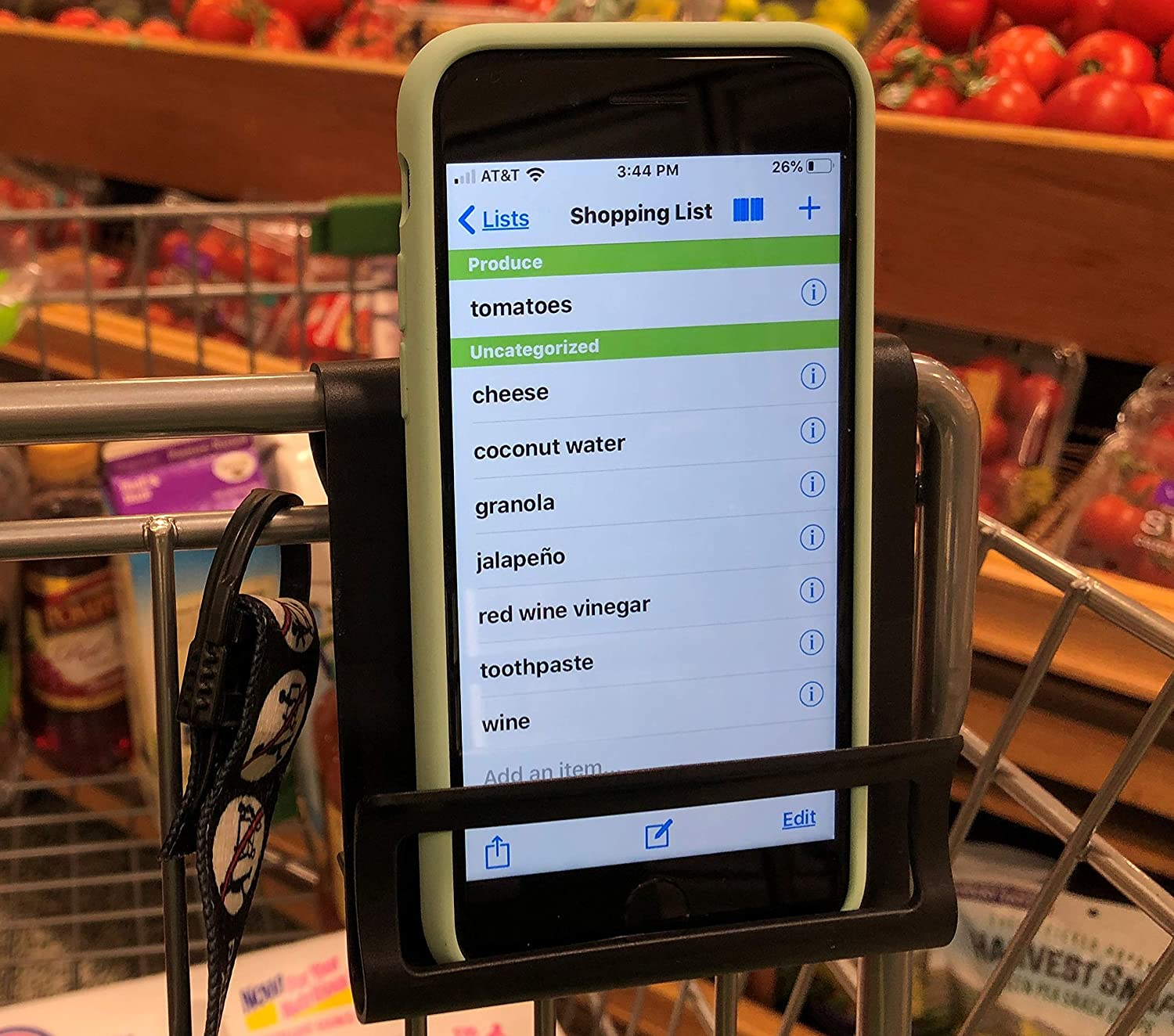 Cart Phone Caddy - Smartphone Holder for Shopping Cart - Safely Secures Cell Phone While you Shop