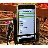 Carrinho para celular – suporte para smartphone para carrinho de compras – protege o celular com segurança enquanto você comp