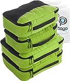 4Pz Bago Cubi Di Imballaggio - Set per Viaggi (2+2-Green)+ 6Pz Sacchetti Organizzatori per i bagagli